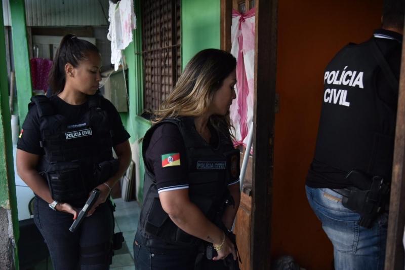Policiais civis fizeram rondas na Região Metropolitana, no Sul e no interior do Estado