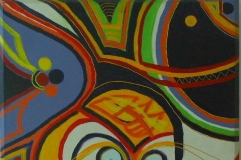 Eva Zimbrusky mostra uma Amazônia colorida em shopping da Capital