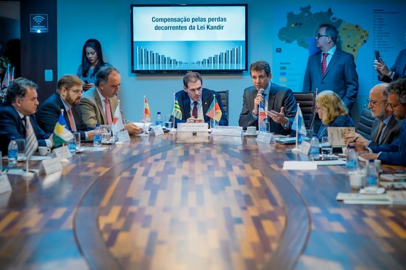 Presidente do Legislativo gaúcho, Ernani Polo, foi à Brasília para reunião da Unale sobre ressarcimentos da Lei Kandir