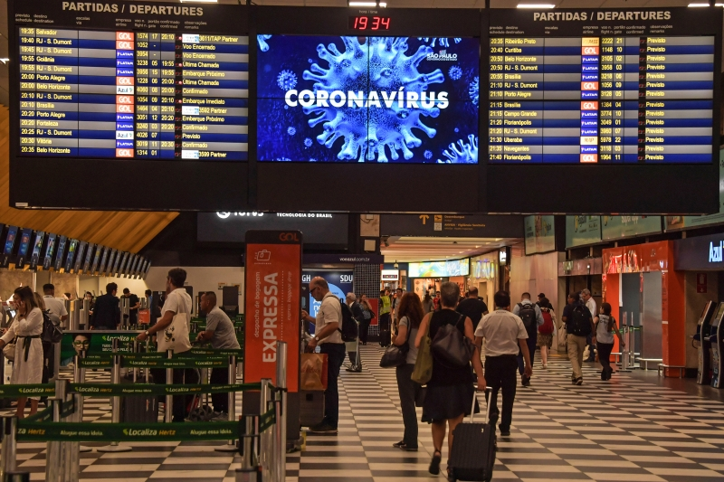 Coronavírus - aeroporto de Congonhas - São Paulo 