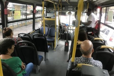 Prefeitura recomenda a circulação dos ônibus apenas com passageiros sentados