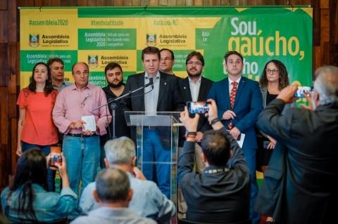 Assembleia gaúcha suspende atividades por causa da pandemia de coronavírus
