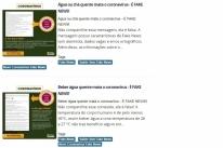 Fake News sobre coronavírus prejudica trabalho de controle da doença