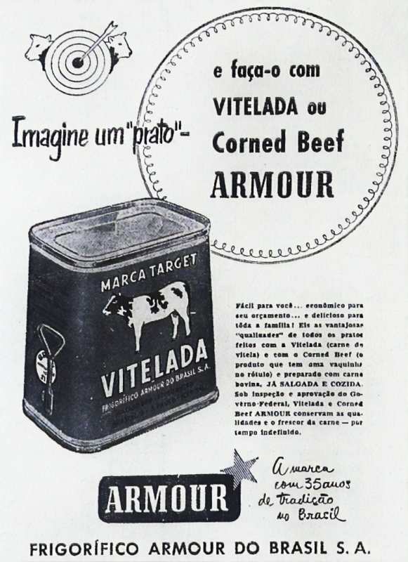 Peça de propaganda do frigorífico Armour
