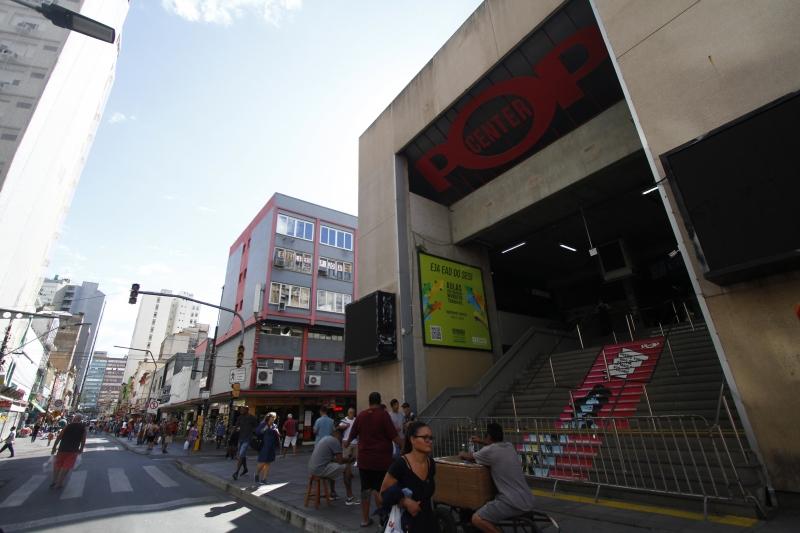 Centro de compras interrompeu as operações devido à pandemia de coronavírus