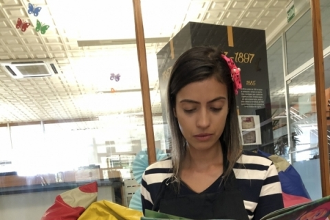 Jacy Gonçalves, bibliotecária da Sogipa e contadora de histórias