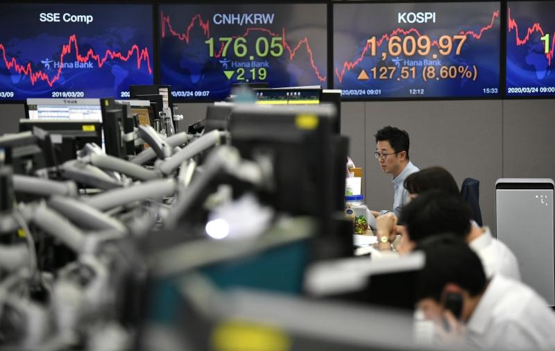 Índice sul-coreano Kospi liberou os ganhos, com salto de 8,6%, o maior ganho diário desde 2016