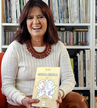 Lêda Maya, autora de 'Narizalda e Narizelda', comenta sobre leitura na infância
