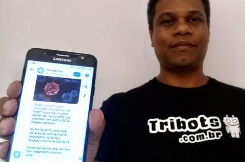 Tribots cria robô para informar pessoas sobre Covid-19