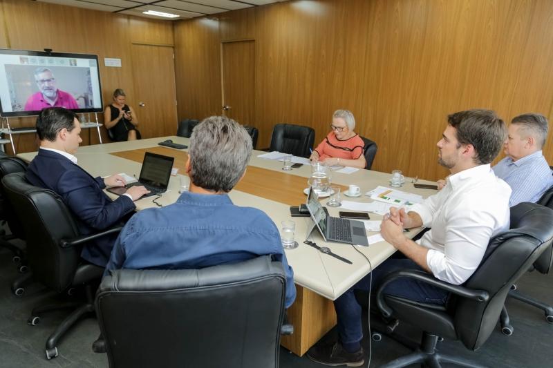 Governador reuniu-se com a bancada federal gaúcha por videoconferência
