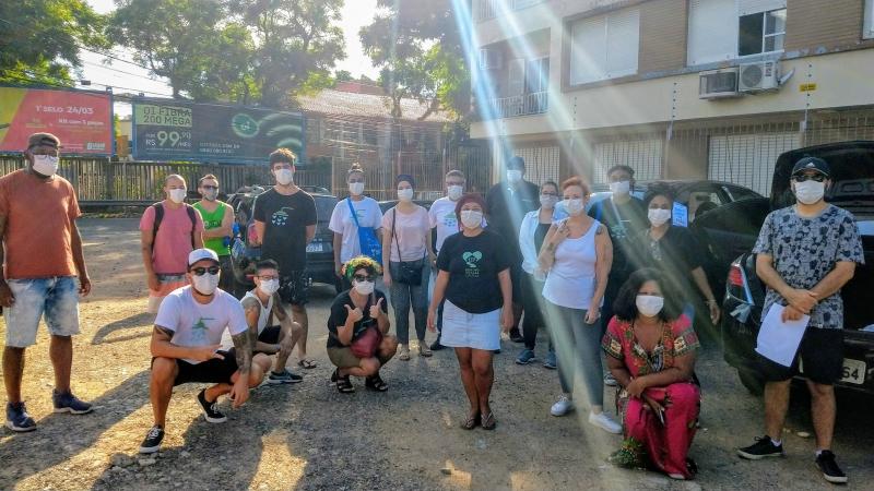 Voluntários do projeto Banho Solidário