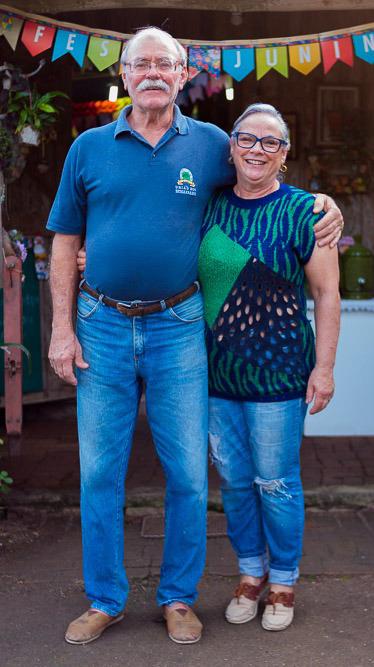 Gerson da Rocha e Noara Tubino são os empreendedores por trás do Sítio Canto Rural