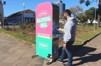 Empresa vai instalar máquina com álcool gel em sete cidades gaúchas