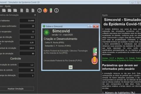 Software gaúcho simula evolução dos casos de Covid-19