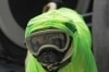 PG3 - cachorro protegido contra o coronavírus TOPSHOT - Psychologist and neuropsychologist Lucia Ledesma Torres's dog Harley, aka El Tuerto, wears protective equipment to prevent the spread of the new coronavirus, COVID-19, in Mexico City, on May 13, 2020. - Harley, a three-year-old Pug puppy, is part of the Psychiatry, Paidopsychiatry, Psychology and Neuropsychology service of the 20 de Noviembre National Medical Center, one of the public hospitals assigned by the government to care for patients with the new coronavirus. As a co-therapist, Harley, gives support and emotional assistance to doctors and nurses, who have already spent at least 50 days in the first line treating patients with COVID-19. (Photo by CLAUDIO CRUZ / AFP)       Caption