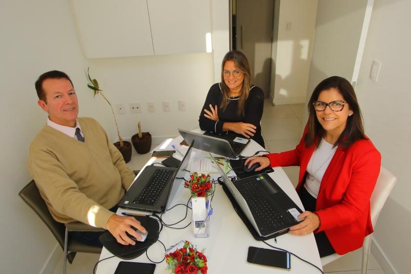 Strey, Carla e Luciana Severo da Acrópole Mediação, uma das câmara credenciadas junto ao TJ-RS