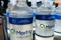 Marfrig doa álcool em gel para Bagé, Alegrete e Hulha Negra
