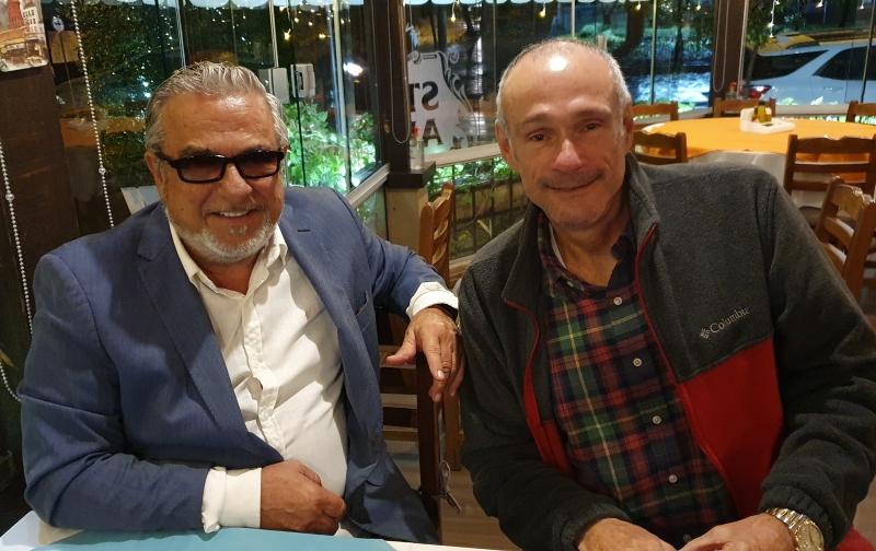 Martins Mano e Theo Germano no restaurante Tartare