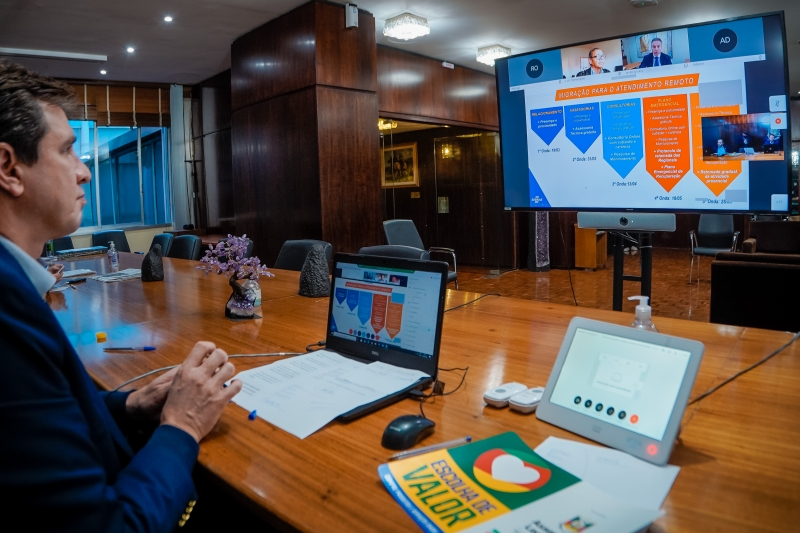 Ernani Polo coordenou a reunião virtual na segunda-feira