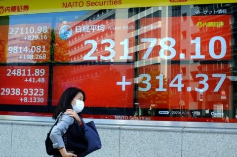 Bolsas asiáticas fecham majoritariamente em alta após indicador chinês positivo