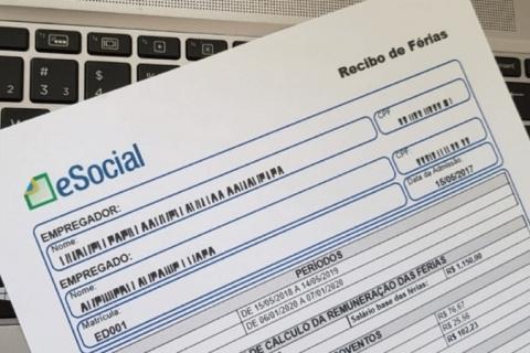 Liberada a impressão do recibo de férias no eSocial
