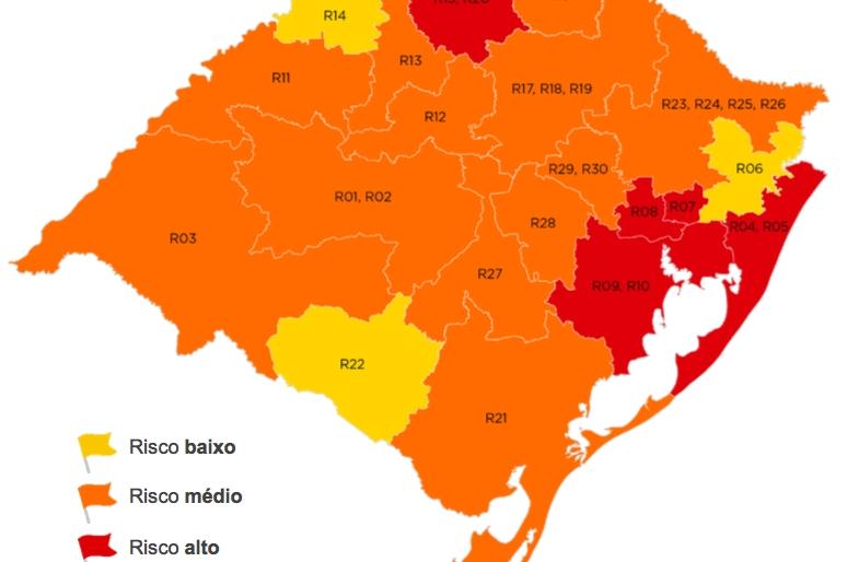 Região Carbonífera e Cachoeirinha encaminham reconsideração da bandeira vermelha