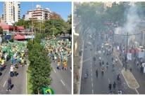Atos no Parcão e no Centro de Porto Alegre foram registrados neste domingo