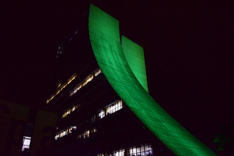 Iluminação da fachada do CAFF já faz parte das contrapartidas do clube
