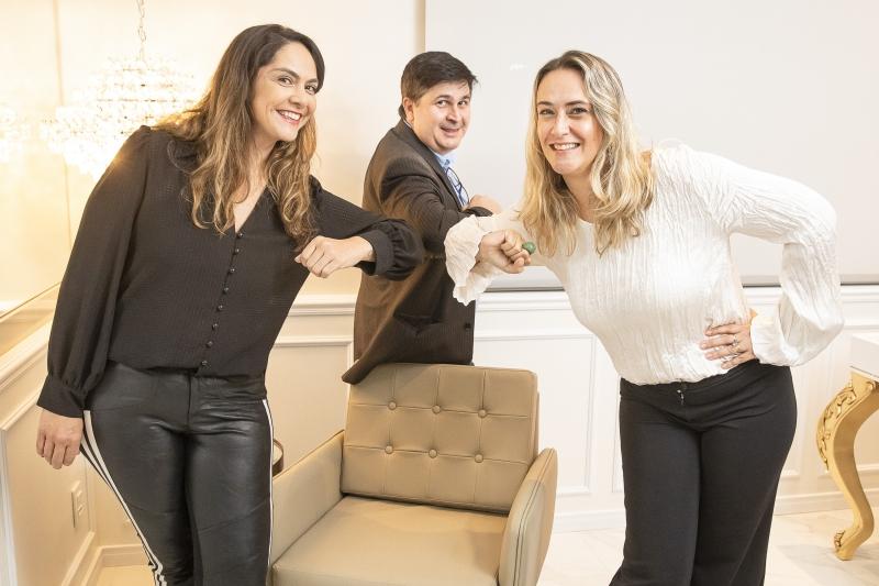 Jaqueline, Marcelo e Edith estão por trás do negócio
