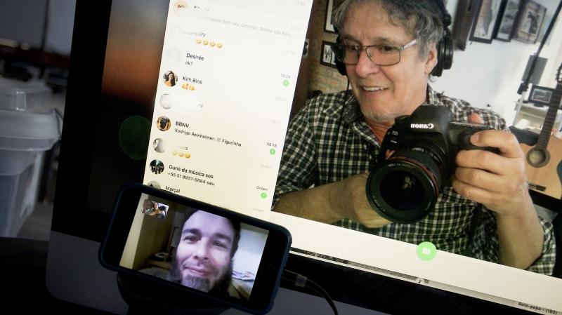 Artistas produziram mostra através de aplicativos e diferentes meios de comunicação a distância