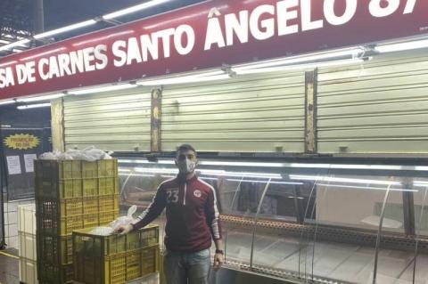 Com fechamento, açougue do Mercado Público doa 400 quilos de carnes a entidades assistenciais