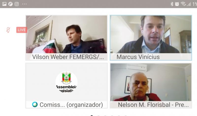 Por videoconferência, deputados estaduais, servidores públicos e o presidente do IPE Saúde, Marcus Vinicius Almeida, discutiram mudanças no instituto que gere o plano de saúde dos funcionários públicos.