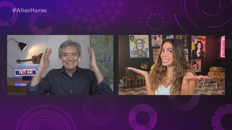 Anitta é uma das entrevistadas remotamente pelo apresentador na nova fase do programa