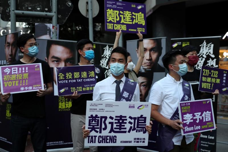 Ativistas pró-democracia temem que a China tente impedir que certos candidatos concorram nas eleições de setembro