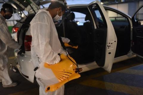 Uber instala centro de higienização a motoristas e entregadores em Porto Alegre