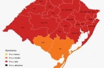 Rio Grande do Sul tem 90% das regiões em bandeira vermelha no mapa preliminar