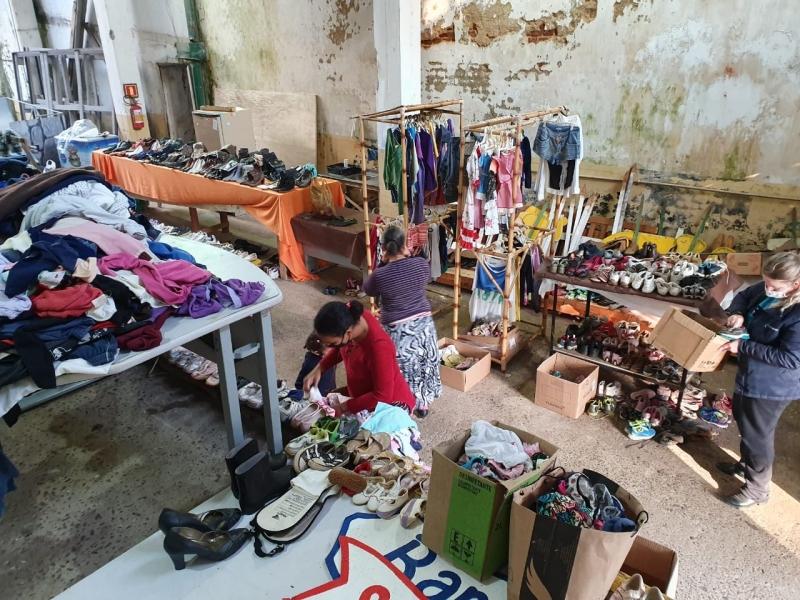 Em Estrela, foram organizadas doações para os desabrigados da cheia do Rio Taquari