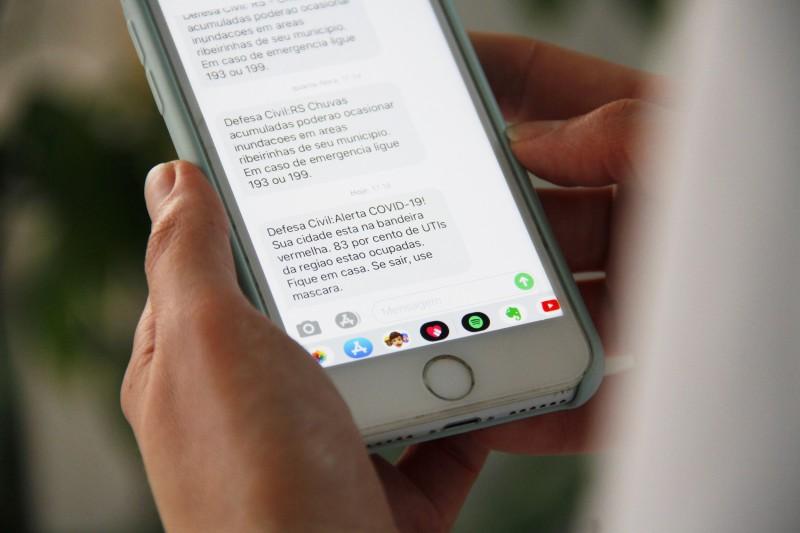 Mensagens serão enviadas pelo sistema da Defesa Civil, que possui mais de 600 mil cadastrados -