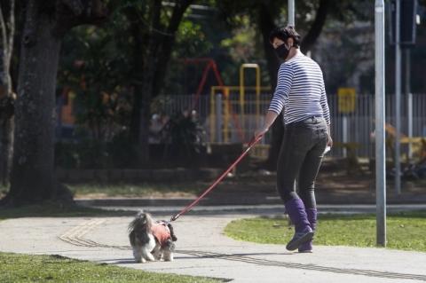 Isolamento social fica em 41,7% na segunda-feira em Porto Alegre