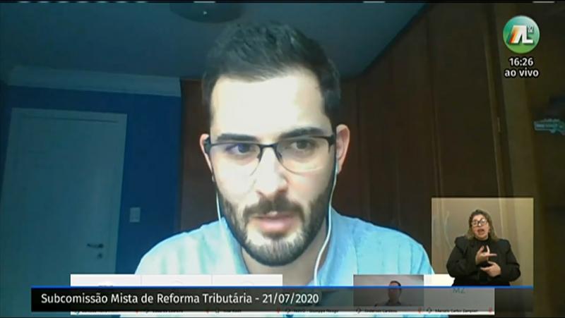 O relator da subcomissão, deputado Giuseppe Riesgo (Novo), coordenou o encontro virtual