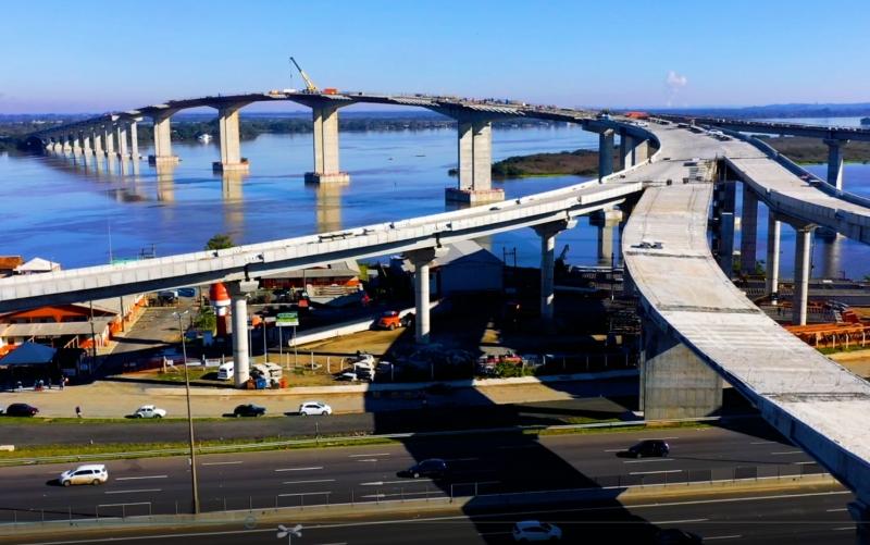 Construção da nova ponte está na reta final e deve ser finalizada em novembro