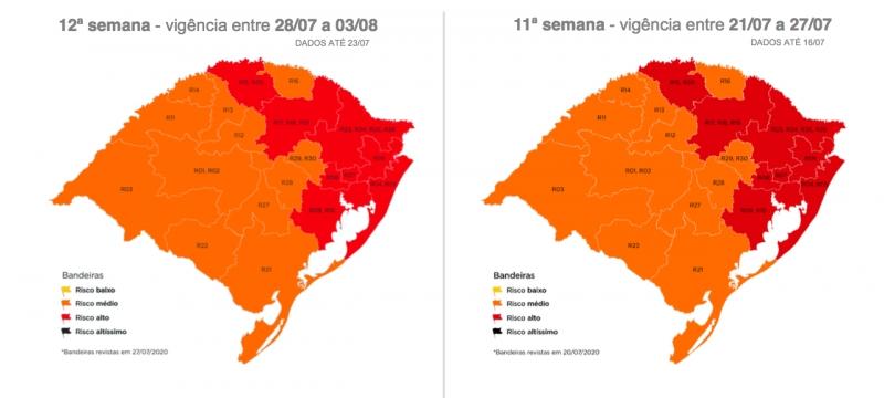 Comparação entre os mapas da semana passada e desta mostram que nada mudou