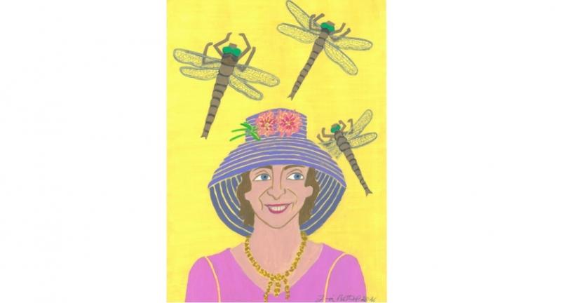 Obra da artista 'A dama das libélulas