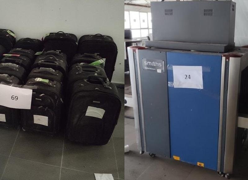 Oferta vai de malas que foram usadas em testes de equipamentos a raio-x desativados