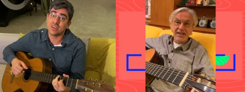 CAETANO VELOSO - Novidade foi anunciada no episódio 78 do programa 'Sinta-se em Casa', de Adnet no Globoplay