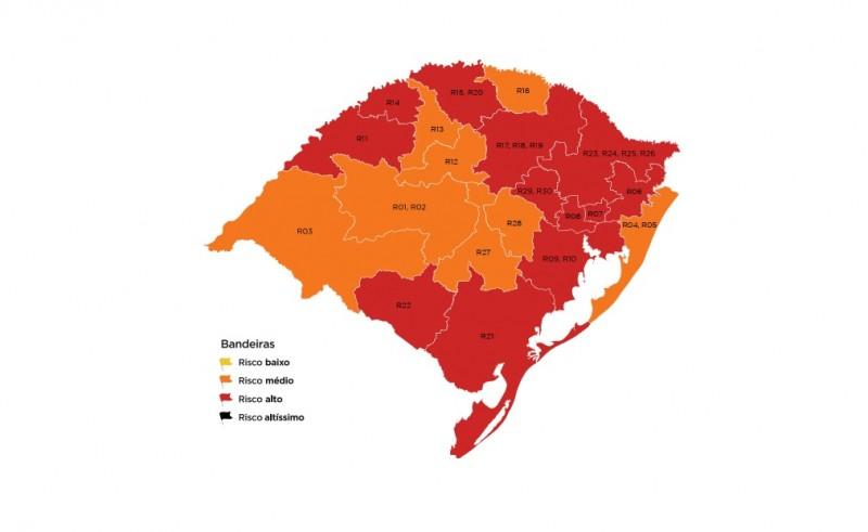 Rio Grande do Sul não possui regiões de baixo risco