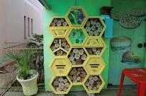 'Hotel' de abelhas ajuda na preservação da espécie em Tio Hugo