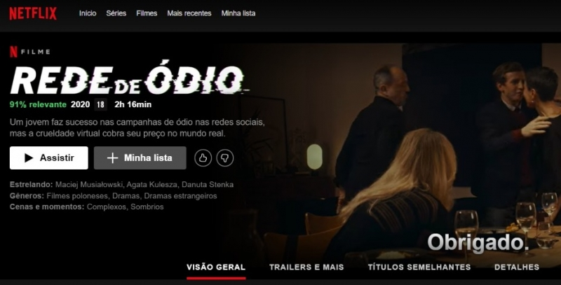 Cinematografia polonesa retorna como figura de destaque do cinema mundial com 'Rede de ódio'