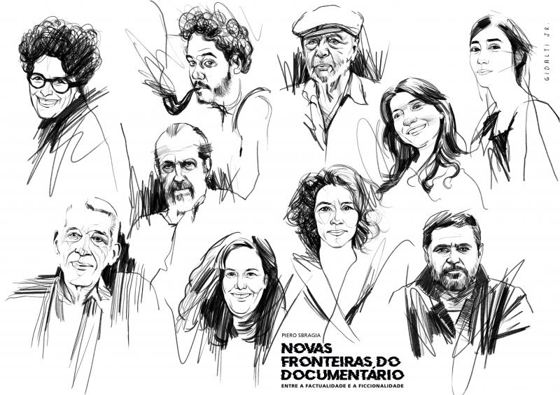 Ilustrações dos 10 cineastas entrevistados na obra são do artista Gidalti Jr.