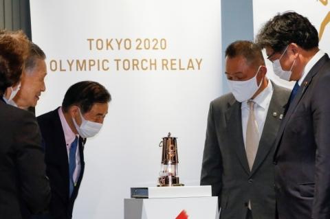 Chama olímpica é exibida e ficará exposta no Museu Olímpico do Japão